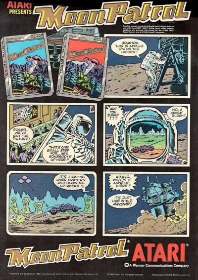 Moon Patrol comic ad