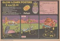 Glow in the dark poster ad