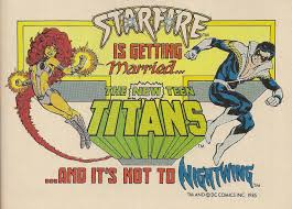 Starfire Getting Married ad
